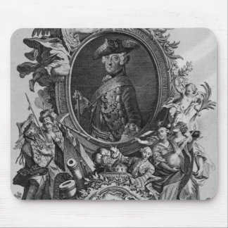 Portrait of Frederick II , engraved by Johann Mouse Mat