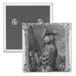 Portrait of Frederick II, The Great 15 Cm Square Badge