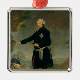 Portrait of Frederick II  the Great, 1772 Silver-Colored Square Decoration