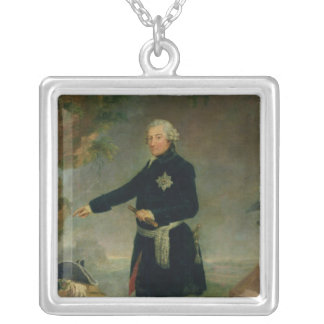 Portrait of Frederick II  the Great, 1772 Silver Plated Necklace