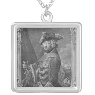 Portrait of Frederick II, The Great Silver Plated Necklace