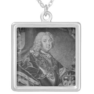 Portrait of Frederick III Silver Plated Necklace