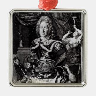 Portrait of Frederick William I Silver-Colored Square Decoration