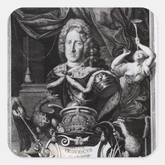 Portrait of Frederick William I Square Sticker