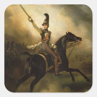 Portrait of Friedrich Heinrich  1830 Square Sticker