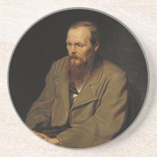 Portrait of Fyodor Dostoyevsky by Vasily Perov Drink Coaster