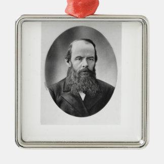 Portrait of Fyodor Mikhailovich Dostoyevsky Christmas Ornament