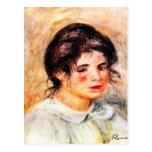 Portrait of Gabrielle by Pierre Renoir Postcard