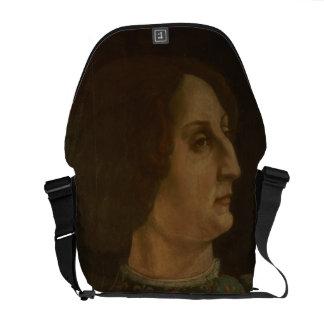 Portrait of Galeazzo Mario Sforza (1444-76) c.1471 Commuter Bag