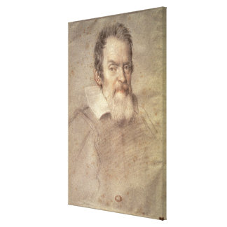 Portrait of Galileo Galilei  Astronomer Stretched Canvas Print