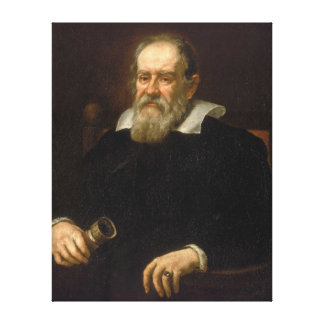 Portrait of Galileo Galilei by Justus Sustermans Gallery Wrap Canvas