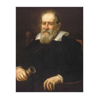 Portrait of Galileo Galilei by Justus Sustermans Gallery Wrap Canvas