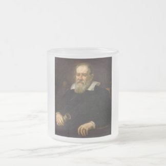 Portrait of Galileo Galilei by Justus Sustermans Frosted Glass Mug