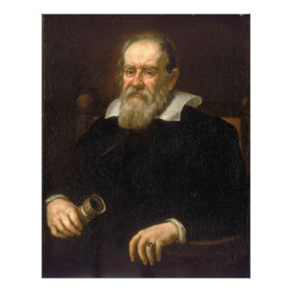 Portrait of Galileo Galilei by Justus Sustermans Photograph
