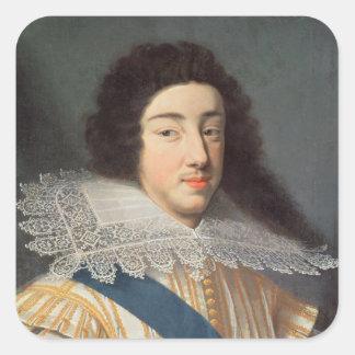 Portrait of Gaston d'Orleans Square Sticker