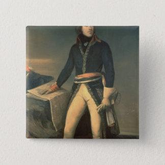 Portrait of General Louis-Lazare Hoche 15 Cm Square Badge