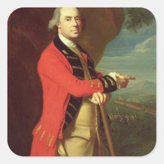 Portrait of General Thomas Gage, c.1768 (oil on ca Square Sticker