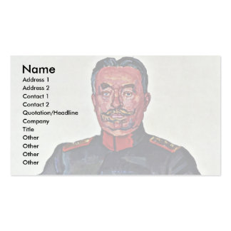 Portrait Of General Ulrich Wille Pack Of Standard Business Cards