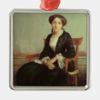 Portrait of Genevieve Celine, 1850 (oil on canvas) Christmas Ornament