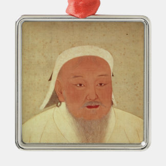 Portrait of Genghis Khan , Mongol Khan Christmas Ornament