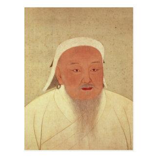 Portrait of Genghis Khan Mongol Khan Postcards