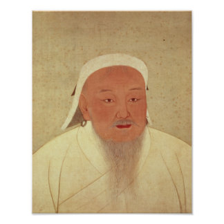 Portrait of Genghis Khan , Mongol Khan Poster
