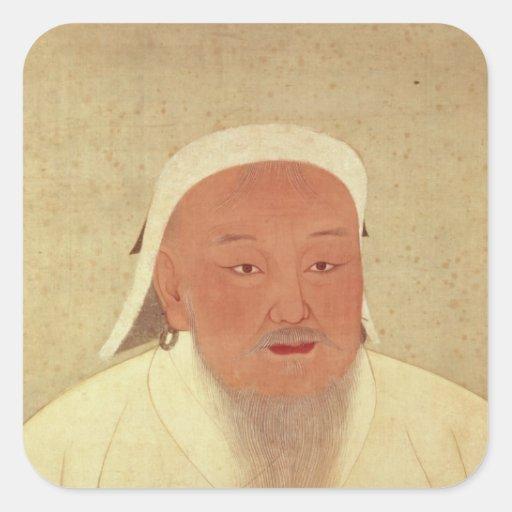 Portrait of Genghis Khan , Mongol Khan Sticker
