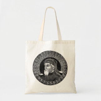 Portrait of Geoffrey Chaucer Bag
