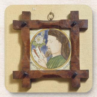 Portrait of Geoffrey Chaucer (c.1340-1400) (cerami Drink Coasters