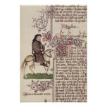 Portrait of Geoffrey Chaucer  facsimile from