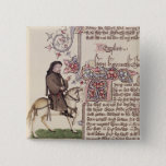 Portrait of Geoffrey Chaucer  facsimile from 15 Cm Square Badge