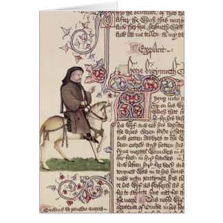 Portrait of Geoffrey Chaucer  facsimile from Card