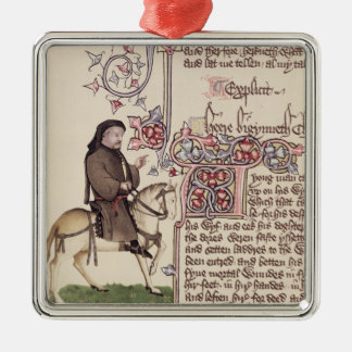 Portrait of Geoffrey Chaucer  facsimile from Christmas Ornament