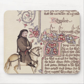 Portrait of Geoffrey Chaucer  facsimile from Mouse Mat