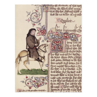 Portrait of Geoffrey Chaucer  facsimile from Postcard