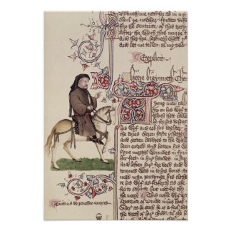 Portrait of Geoffrey Chaucer  facsimile from Poster