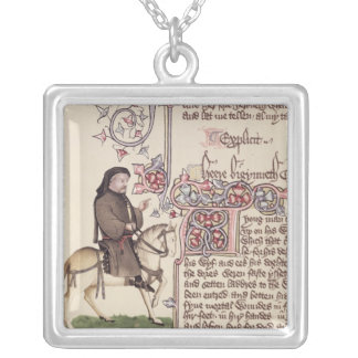 Portrait of Geoffrey Chaucer  facsimile from Silver Plated Necklace