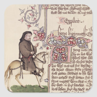 Portrait of Geoffrey Chaucer  facsimile from Square Sticker