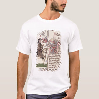 Portrait of Geoffrey Chaucer  facsimile from T-Shirt