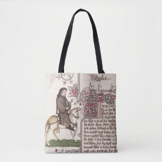 Portrait of Geoffrey Chaucer  facsimile from Tote Bag