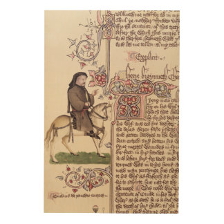 Portrait of Geoffrey Chaucer  facsimile from Wood Print