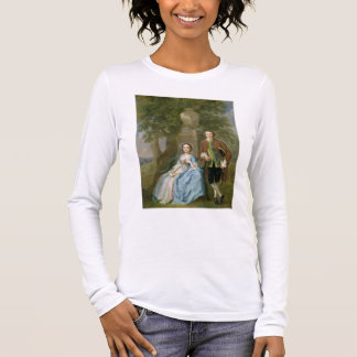 Portrait of George and Margaret Rogers, c.1748-50 Long Sleeve T-Shirt