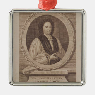 Portrait of George Berkeley  Bishop Christmas Ornament