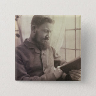 Portrait of George Bernard Shaw (1856-1950) as a Y 15 Cm Square Badge