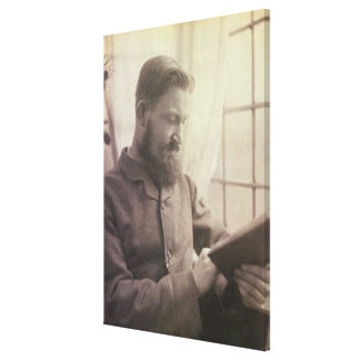 Portrait of George Bernard Shaw (1856-1950) as a Y Canvas Print