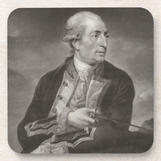 Portrait of George Farmer (1732-79) Captain of HMS Drink Coasters