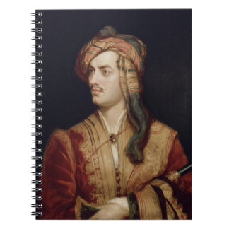 Portrait of George Gordon (1788-1824) 6th Baron By Spiral Notebook