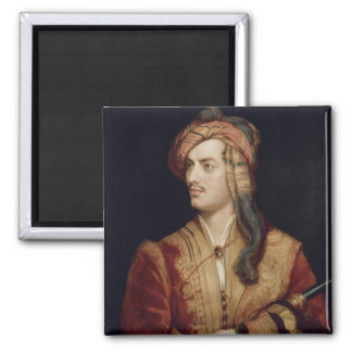 Portrait of George Gordon (1788-1824) 6th Baron By Square Magnet