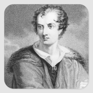 Portrait of George Gordon Square Sticker