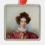 Portrait of George Sand  1830 Christmas Ornament